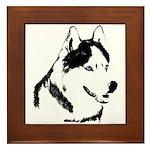 Siberian Husky Gifts Sled Dog Husky Framed Tile