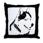 Siberian Husky Pillows Sled Dog Throw Husky Pillow