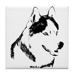 Siberian Husky Coaster Sled Dog Tile Coaster