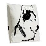 Siberian Husky Pillows Sled Dog Burlap Pillow