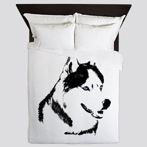 Siberian Husky Duvet Cover Sled Dog Queen Duvet