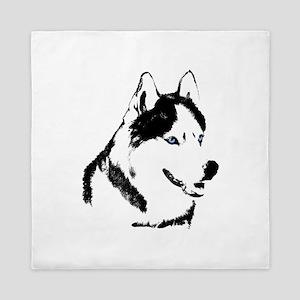 Siberian Husky Duvet Cover Sled Dog Queen Duvet