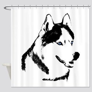 Husky Shower Curtain Siberian Husky Malamute Decor
