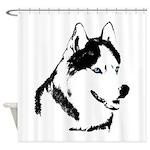Husky Shower Curtain Siberian Husky Malamute Decor