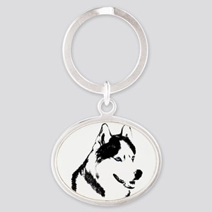 Siberian Husky Keychain Husky Sled Dog Keychain