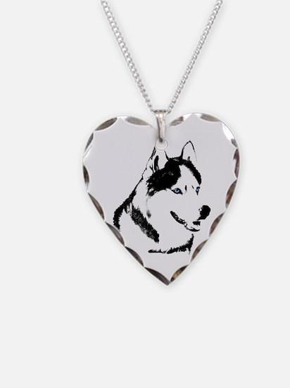 Siberian Husky Necklace Sled Dog Necklace Jewelry