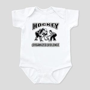 Hockey Organized Violence Infant Bodysuit