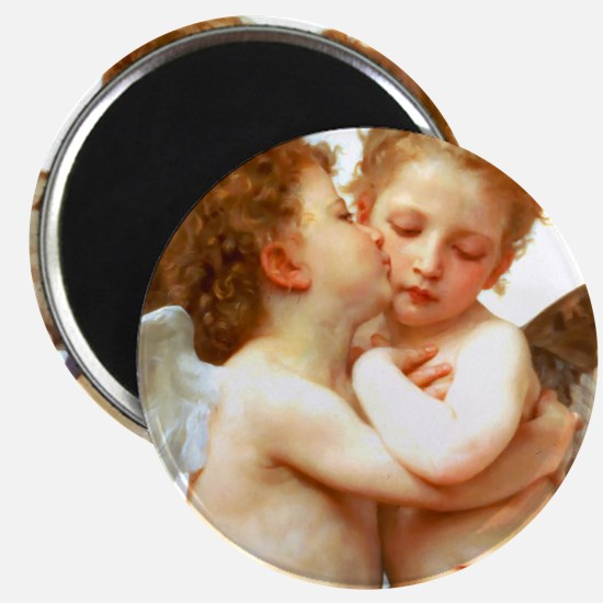 Cupids Kiss by Bouguereau Magnets