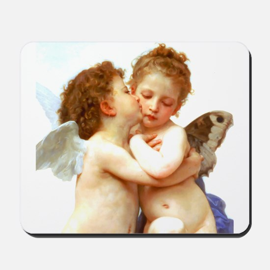 Cupids Kiss by Bouguereau Mousepad