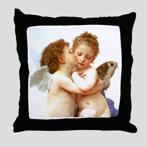 Cupids Kiss by Bouguereau Throw Pillow
