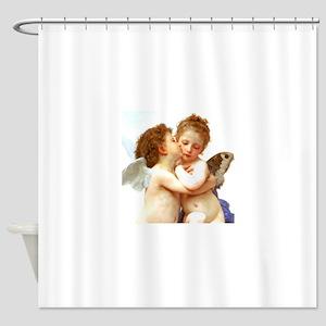 Cupids Kiss by Bouguereau Shower Curtain
