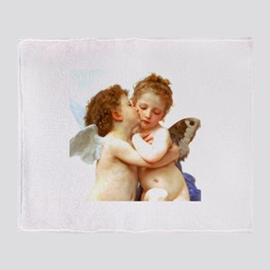 Cupids Kiss by Bouguereau Throw Blanket