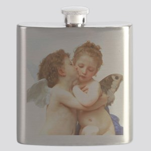Cupids Kiss by Bouguereau Flask