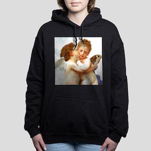 Cupids Kiss by Bouguereau Hooded Sweatshirt