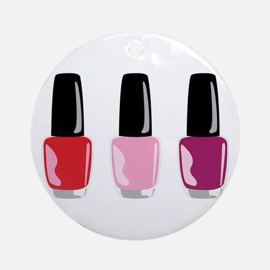 Nail Polish Ornament (Round)