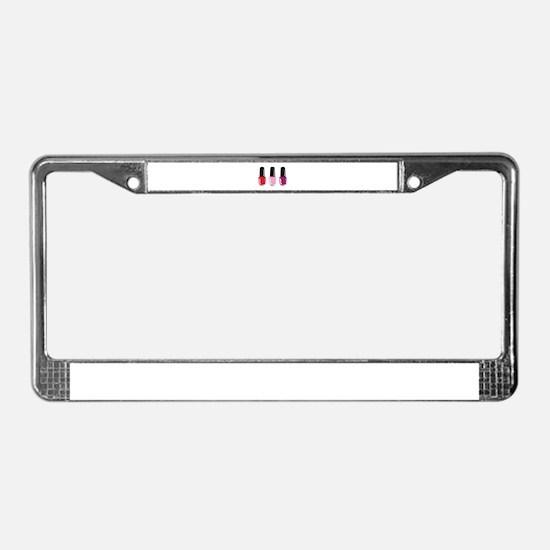 Nail Polish License Plate Frame