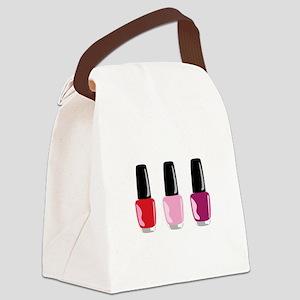Nail Polish Canvas Lunch Bag