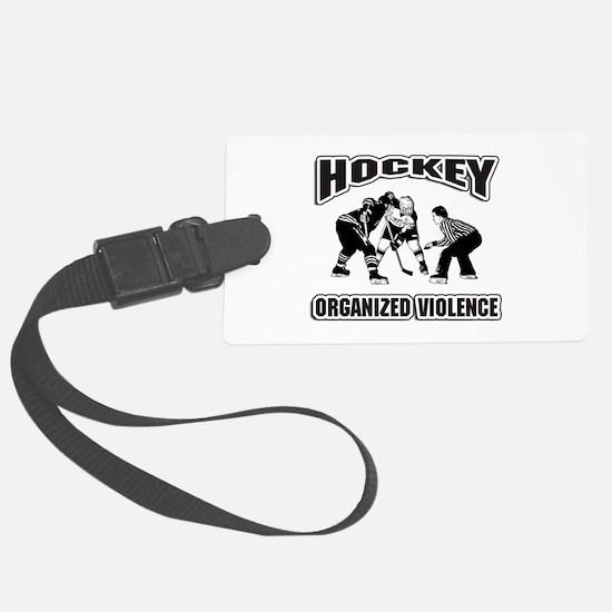 Hockey Organized Violence Luggage Tag