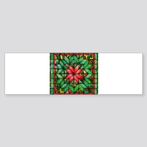 Red and Green Quilt Bumper Sticker