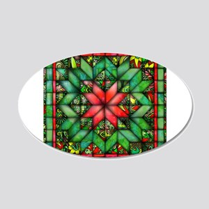 Red and Green Quilt Wall Decal