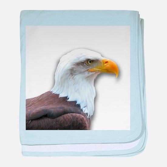 Bald Eagle profile baby blanket