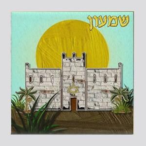 12 Tribes Israel Simeon Tile Coaster