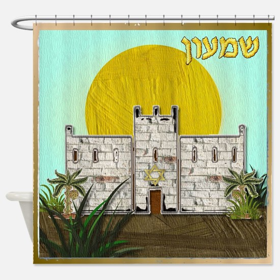 12 Tribes Israel Simeon Shower Curtain
