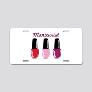 Manicurist Aluminum License Plate