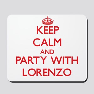Keep Calm and Party with Lorenzo Mousepad