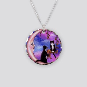 cat 586 Necklace Circle Charm