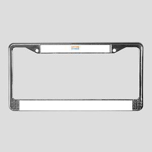 Anytime, Anywhere License Plate Frame