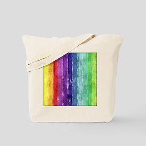 Geometric Stripes Watercolor Tote Bag