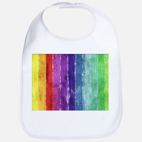 Geometric Stripes Watercolor Bib