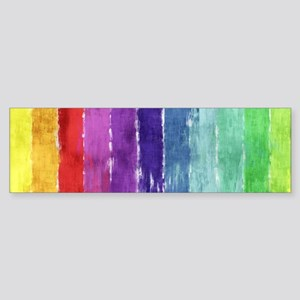 Geometric Stripes Watercolor Sticker (Bumper)