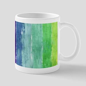 Geometric Stripes Watercolor Mug
