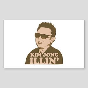 Kim Jong Illin' Rectangle Sticker
