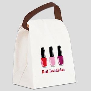 Nail Technician Canvas Lunch Bag