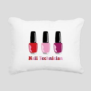 Nail Technician Rectangular Canvas Pillow