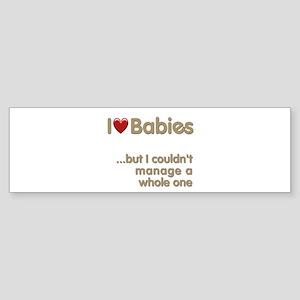 The Baby Catcher's Bumper Sticker