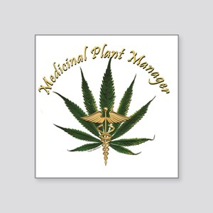 "Medicinal Plant Manager ~ M Square Sticker 3"" x 3"""