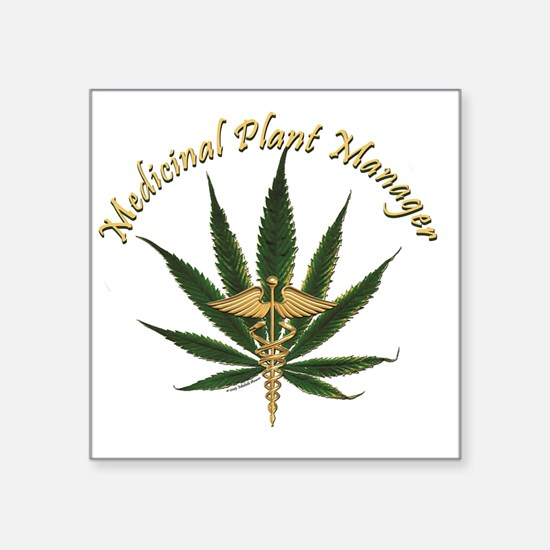 """Medicinal Plant Manager ~ M Square Sticker 3"""" x 3"""""""
