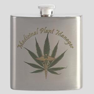Medicinal Plant Manager ~ Marijuana Leaf wit Flask