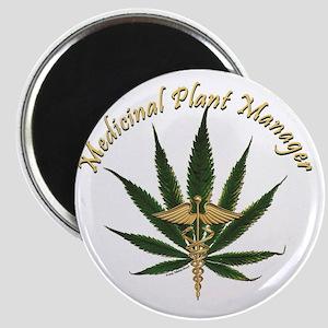 Medicinal Plant Manager ~ Marijuana Leaf wi Magnet