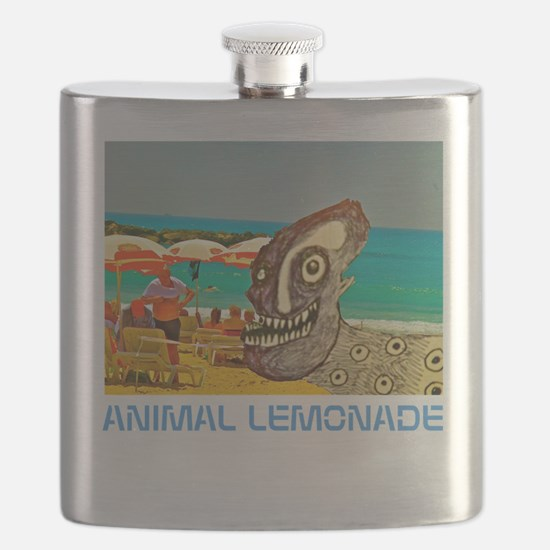 Dog Day at the Beach Flask
