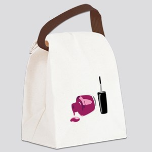 Spilled Nail Polish Canvas Lunch Bag