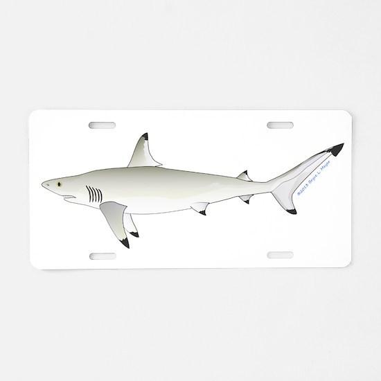 Blacktip Shark Aluminum License Plate