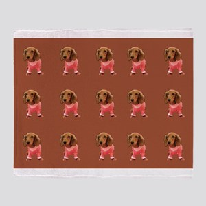 Doxie Dachshund Doggie Dance 23 Throw Blanket