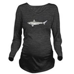 Blacktip Shark c Long Sleeve Maternity T-Shirt