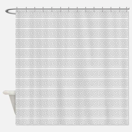 Classical Greek Key Pattern Shower Curtain