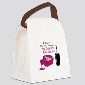Pay Someone Canvas Lunch Bag